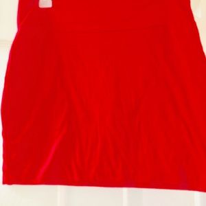 Comfy red- huts mid thigh-stretchable fabric